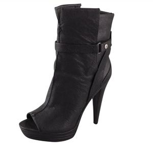 7 For All Mankind Raven Open-Toe Booties